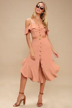 Pink Two Piece, Two Piece Dress, Jw Moda, Summer Outfits Women, Summer Dresses, Trendy Dresses, Women's Dresses, New Dress, Dress Up