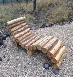 Construct this modern log lounger and relax in style.   13 DIY Projects Just In Time For Summer