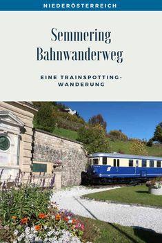 Eine Trainspotting Wanderung auf 21 Kilometern rund um Viadukte, pfeifende Züge und herrlichen Ausblicken. Streckenbeschreibung und Tipps für den Bahnwanderweg zwischen Semmering und Payerbach. #SemmeringWandern #ÖsterreichSchönsteOrte #ÖsterreichUrlaub #ÖsterreichWandern #ÖsterreichUrlaubSommer #NiederösterreichAusflug #Niederösterreich #ÖsterreichAusflugsziele #AusflügeÖsterreich #AusflugszieleinÖsterreich #Semmeringwandern #Semmeringbahn #WanderninNiederösterreich #WandertippsÖsterreich Day Trips, Road Trip Destinations, Beautiful Places, Round Round