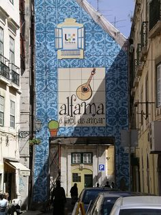 The FADO Old Lisbon district, with its narrow streets and typical small restaurants, Portugal. Sintra Portugal, Braga Portugal, Visit Portugal, Portugal Travel, Spain And Portugal, Portuguese Culture, Portuguese Tiles, Places To Travel, Places To Visit