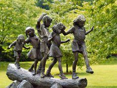 """Shortcut"" sculpture by Jane Dedecker at Byers Choice Sculpture Garden in Chalfont, PA - photo by Michael Kendrick (fundraz34), via Flickr"