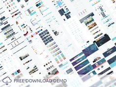 Huge UI Kit and Free PSD Templates