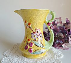 Carltonware Bramble Pitcher Vintage Jug by treasurecoveally on Etsy