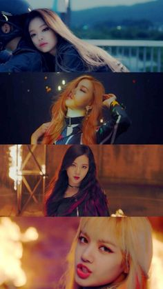 'playing with fire' black pink // on an on an on - I like Rose in this video XD