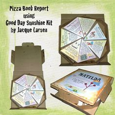 Pizza box book report projects students will love decorating the outside of a elementary ideas creative for middle school food Book Report Projects, Reading Projects, Reading Resources, Book Projects, Teaching Reading, Book Activities, Reading Lessons, Guided Reading, Project Ideas