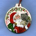 """Christmas Designs - Ann Priddy Cairn Terrier """"all I want for Christmas"""" ceramic ornament"""