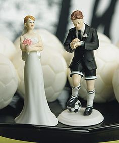 Soccer Player Groom Mix & Match Cake Topper