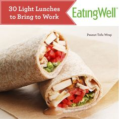 Plenty of low-calorie sandwich recipes, low-calorie salad recipes and more low-calorie lunches that are perfect to pack for the office.