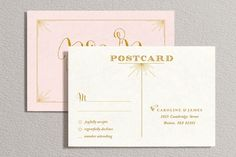 Printable Wedding Invitation and RSVP Card Blush Pink by plpapers