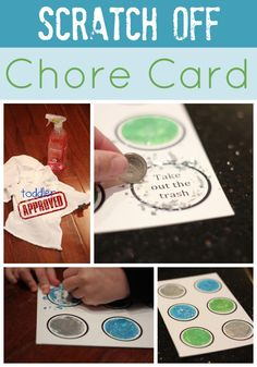Toddler Approved!: Scratch Off Chore Card {Cleaning with Kids}