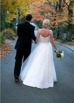 Vintage Tulle Wedding Dress Beaded Cap Sleeves Plus by wonderxue, $317.00