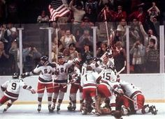Miracle on Ice. 1980 Winter Olympics at Lake Placid