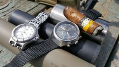 Enjoyed a Cohiba while Shooting with the owner of Dakota Silencers.   Yep, it's a Heche in Habana Cohiba.   Chose my Seiko 6138-0020 from August 1972 add the watch of the day.