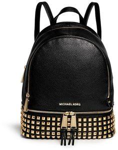 MICHAEL MICHAEL KORS 'Rhea' stud small leather backpack
