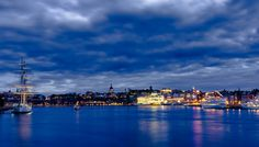 Stockholm ! The blue time.
