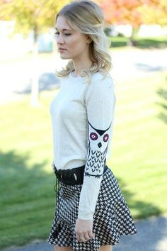 Owl Knit Sweater #nanamacs