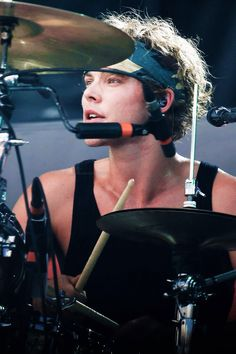 Ashton onstage at the iheart radio festival village 2014