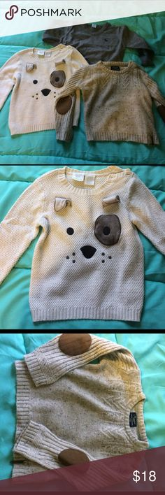 Lot of three toddler boy sweaters Three gently worn toddler boy sweater size 2t Shirts & Tops Sweaters