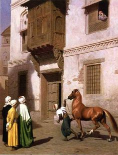 Horse Merchant in Cairo. Jean-Léon Gérôme. Oil on canvas 1867