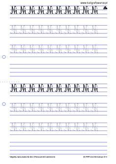 kaligrafowanie.pl ?q=node 28&p=6 Sheet Music, Periodic Table, Language, Kids, Young Children, Periodic Table Chart, Boys, Periotic Table, Languages