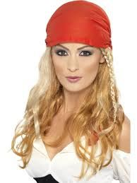 Purchase your pirate princess female wig for carnivals from the Halloween Spot. It is a blonde princess wig available with red coloured bandana for your head. Pirate Fancy Dress, Ladies Fancy Dress, Pirate Bandana, Captain Costume, Meet Women, Fancy Dress Accessories, Halloween Costume Accessories, Pirate Woman, Cute Hoodie