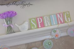 Chip board and Blocks make cute spring decor.  Make for any season.