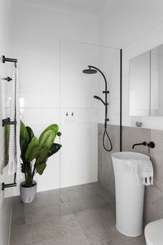 floor standing vessel basin takes up little room. BRUNSWICK EAST - Bathroom and Kitchen Renovations and Design Melbourne - GIA Renovations