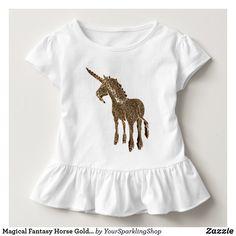 Magical Fantasy Horse Gold Look Unicorn Toddler Shirt