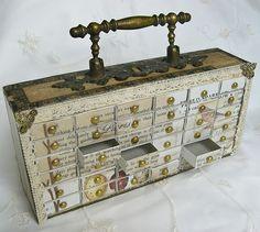 Vintage Inspired--Matchbox cabinet to store small items (created by Eingestellt von Viola E.)