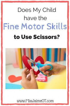 Fine motor weakness, positioning and lack of exposure can all be conquered with these simple OT tips to help your child with cutting skills. Cutting Activities, Fine Motor Activities For Kids, Motor Skills Activities, Kids Educational Crafts, Educational Websites, Science Crafts, Pediatric Occupational Therapy, Pediatric Ot, Learning Shapes