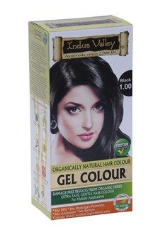 Indus Valley Organically Natural Gel Hair Colour, BLACK 1.00