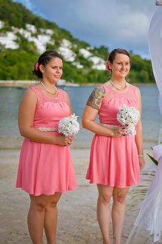 Bridesmaids // Nautical Wedding // @Windjammer Landing #destinationwedding #windjammer #wedding  #nauticalwedding