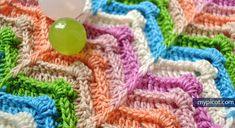 Crochet Wave Textured stitch MyPicot | Free crochet patterns