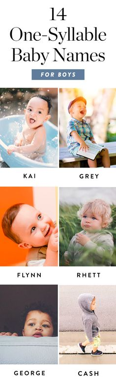 14 Original (Yet Classic) One-Syllable Baby Names for Boys  via @PureWow via @PureWow