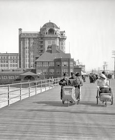 """Rolling chairs"" Atlantic City on the Boardwalk."