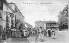 Santena - TO. Tanti, tanti tanti anni fa. Da una cartolina di Don Nino