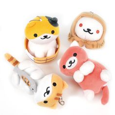 Perfect for anyone who can't get enough of the adorable feline furballs of the Neko Atsume series or for aspiring crazy cat ladies, vol. 11 of the plush collection brings you even more cuteness in soft, cuddly form! Four kitties have shown up to grace you with their presence this time: Callie sitting in a pail, Pumpkin holding a saury fish, Ginger looking cute as ever, and rare cat Frosty in his s... #tokyootakumode #plushie #Cats #Neko_Atsume