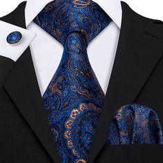 Classical Zebra Striped Tie For Mens Silk Necktie Hanky Gift Box Set Luxury Ties, Mens Fashion Suits, Men's Fashion, Cufflink Set, Suit Accessories, Tie Styles, Wedding Men, Wedding Groom, Tie Set