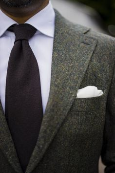 I love the colors in this tweed sports jacket, and the tie is fantastic.