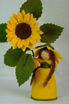 Sunflower Flower Child Waldorf Inspired door KatjasFlowerfairys