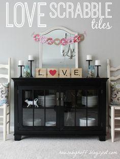 LOVE Scrabble Tiles for V-day!