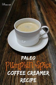 Easy Paleo Pumpkin Spiced Coffee Creamer Recipe paleo vegan PSL. Whole30 and 21 day sugar detox options.