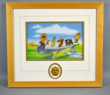 POOH'S ADVENTURE PIN SET - Measures: Visable Art: 8''H x 11.5''W, Frame: 21''H x 18''W - Condition: Age appropriate wear; All items sold as is.
