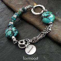 turkus - bransoletka Biżuteria Bransolety formood Rose Quartz Bracelet, Garnet Bracelet, Gemstone Bracelets, Gemstone Jewelry, Jewelry Bracelets, Simple Bracelets, Bohemian Bracelets, Wire Jewelry, Beaded Jewelry