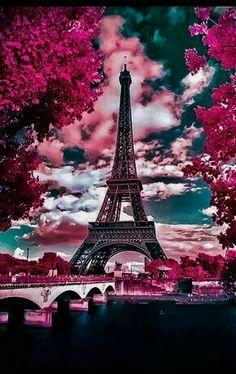 Paris in the Spring – Robert Saddler – G… – Galaxy Art Landscape Wallpaper, Scenery Wallpaper, Cute Wallpaper Backgrounds, Pretty Wallpapers, Wallpaper Wallpapers, Iphone Wallpaper, Naruto Wallpaper, Kawaii Wallpaper, Pink Wallpaper