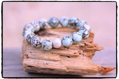 Mosiac Turquoise and Silver Stardust Bead by ShortDogJewelry