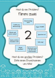 Pausenstreitigkeiten - Nimm zwei Learning Stations, Kids Learning, Classroom Organisation, Classroom Management, Early Intervention Program, Mental Development, Teaching Special Education, Kids Behavior, Educational Programs
