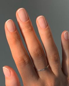 Short Natural Nails, Short Nails, Nude Nails, Manicure And Pedicure, Red Stiletto Nails, Mani Pedi, Fancy Nails, Pretty Nails, Hair And Nails