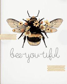 Symbol Tattoos, Wie Zeichnet Man Manga, I Love Bees, Bee Tattoo, Bee Gifts, Bee Art, Bee Theme, Bee Happy, Bees Knees