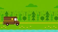 UPS van and tree's graphic